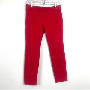 Banana republic crop coloured trousers size 0P red